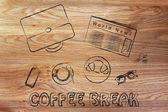 Business lunch or coffee break illustration — Zdjęcie stockowe
