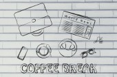 Business lunch or coffee break illustration — Foto Stock