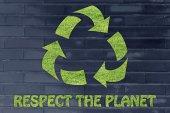 Respect the planet illustration — Fotografia Stock