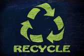Recycle symbol made of grass — Stock Photo