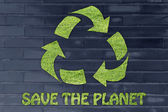 Save the planet illustration — Stock Photo