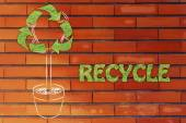Tree with foliage in shape of Recycling symbol — Stock Photo
