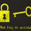Metaphor of getting the key to success — Stock Photo #73509145