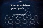Seminar or school class with mentor — Stock Photo