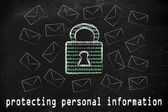 Protecting personal information — Stock Photo