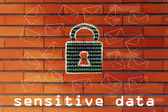 Internet security for sensitive data — Stock Photo