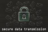 Internet secure data transmission — Foto Stock