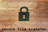 Secure file transfer — Stock Photo