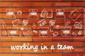 How to successfully work in a team — Stock Photo