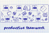 Productivity teamwork illustration — Stock Photo
