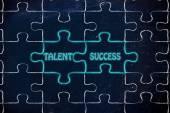 Talent & success puzzle illustration — Stock fotografie