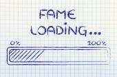 Funny progress bar with fame loading — Stock Photo