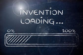 Funny progress bar with invention loading — Stock Photo