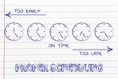 Gestão do tempo e criar agendas — Fotografia Stock