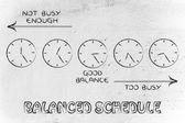 Balanced schedule at work — Stock Photo