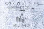 Konzept der großen Datenverarbeitung und transfers — Stockfoto
