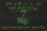 Concept of big data — Stock Photo