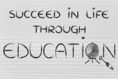 Gebruik van onderwijs te raken uw doelen in het leven — Stockfoto