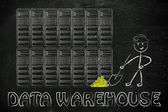 Data warehouse and business intelligence — Stock Photo
