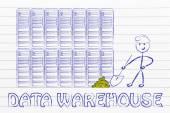 Data warehouse and business intelligence — Stock Photo
