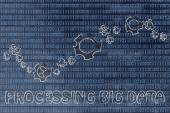 Concept of processing big data — Stock Photo