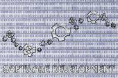 Concept of software development — Stock Photo