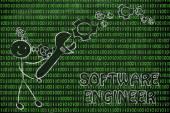 Wird ein software-ingenieur — Stockfoto