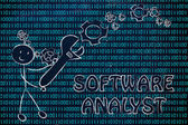 Být analytik software — Stock fotografie