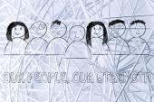 Business communication & public relations illustration — Stock Photo