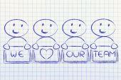 Groupe heureux hommes illustration en collaboration — Photo
