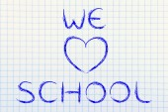 We Love School writing — Stock Photo