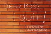 Handwritten message to the boss — Stock Photo