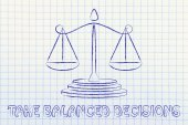 Illustration of an old school balance — Stock Photo