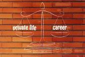 Work-life balance illustration — Stock Photo