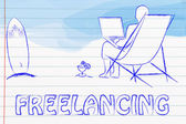 Freelancing work illustration — Stock Photo