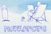 Freelancing work illustration — Stockfoto