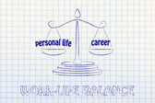 Personal life versus career — Stock Photo