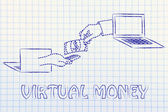 Concept of virtual payments methods — Stock Photo