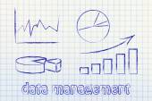 Graphs and stats business illustration — Stock Photo
