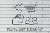 Consumer behavior and analysing big data for marketing — Stock Photo