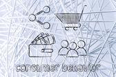 Consumer behavior and analysing big data for marketing — Stok fotoğraf