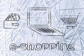 E-business concept illustration — Stock Photo