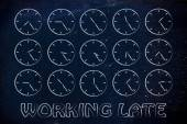 Time management and working late illustration — Stock Photo