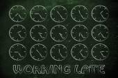 Working late illustration — Foto Stock