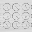 Series of clocks showing time passing by — Stock Photo #76820995