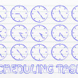 Series of clocks showing time passing by — Stock Photo #76855629