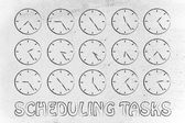 Concept of scheduling — Stock Photo