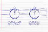 Stopwatch start and stop — Stock Photo