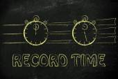 Concept of achieving goals at record time — Stock Photo