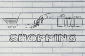 Shopping day illustration — ストック写真